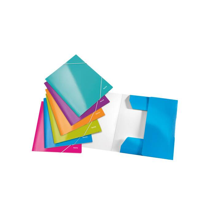 Chemise d'angle LEITZ WOW A4 assortie 6 pièces
