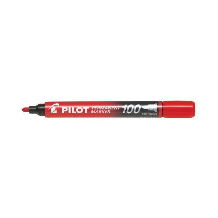 PILOT PEN Permanent Marker SCA-100-R (Rot, 1 Stück)