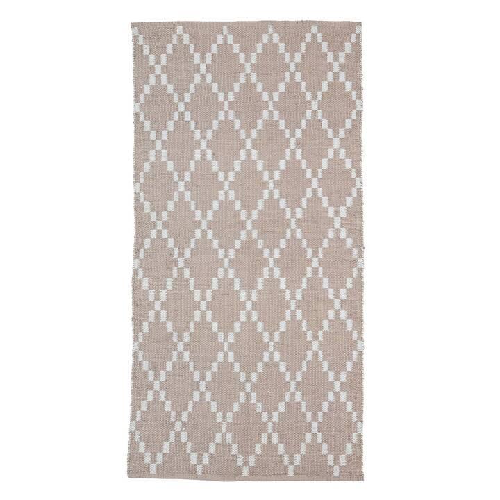 BLOOMINGVILLE Tapis Outdoor (700 mm x 140 cm, Rose, Blanc)