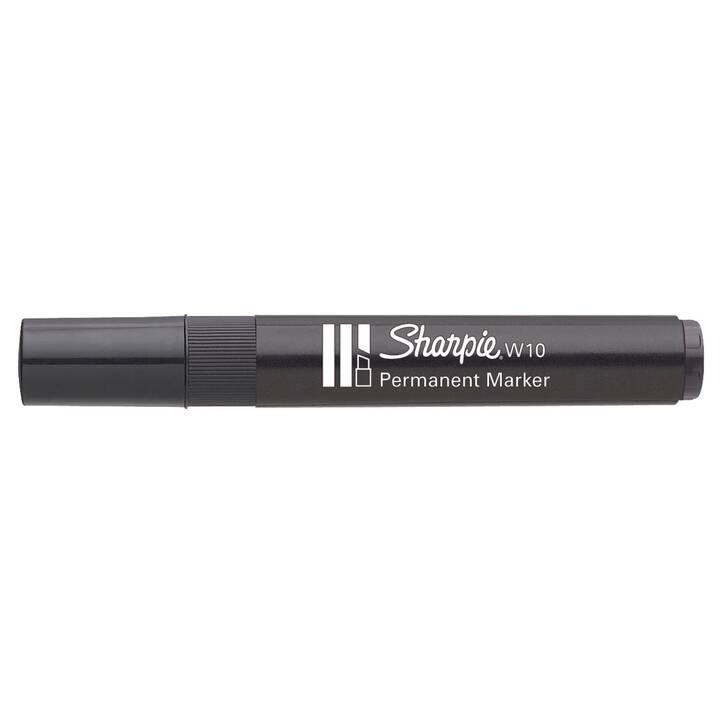 SHARPIE Marqueur permanent W10 (Noir, 1 pièce)