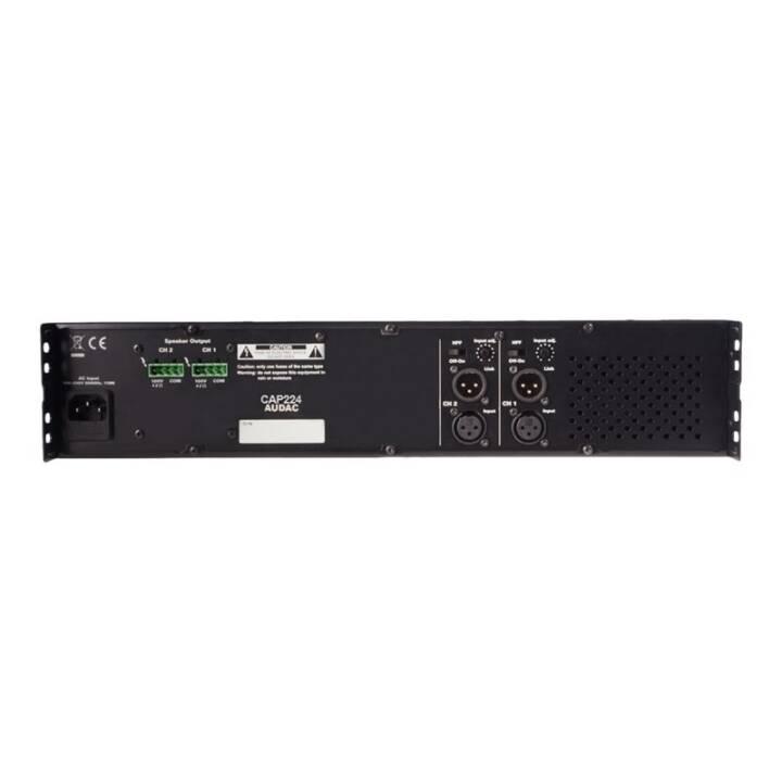 AUDAC Pro CAP224 (Finale di potenza, Nero)