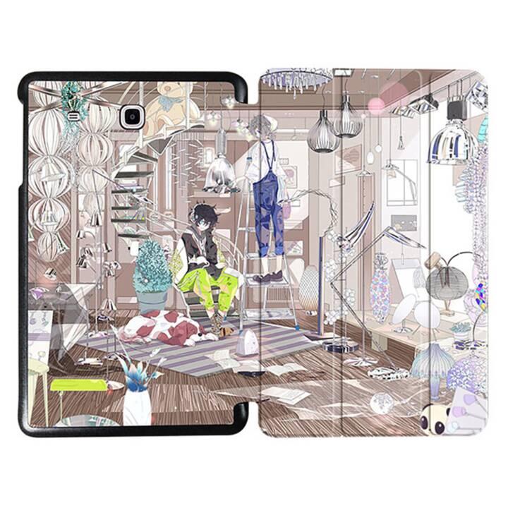 """EG MTT Tablet Tasche mit faltbarer Abdeckung für Samsung Galaxy Tab E 9.6 """"- Comics"""