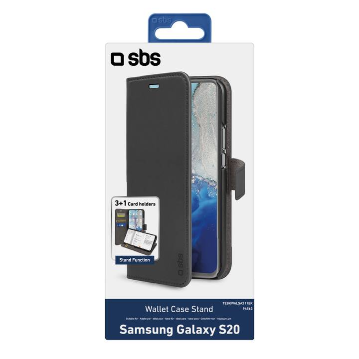 SBS Flipcover Wallet Case Stand (Galaxy S20, Nero)