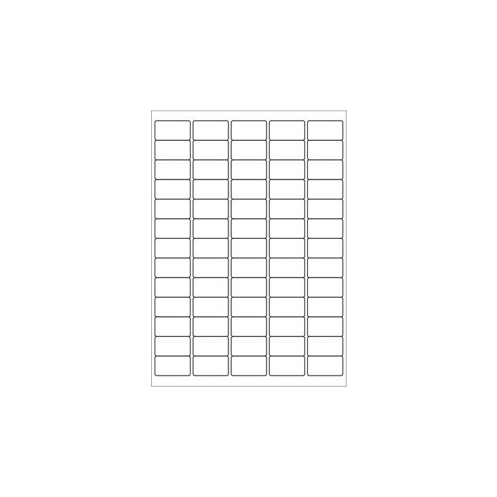 KORES Etichetta universale. 38 x21,2mm bianco 100 fogli /65 pz.