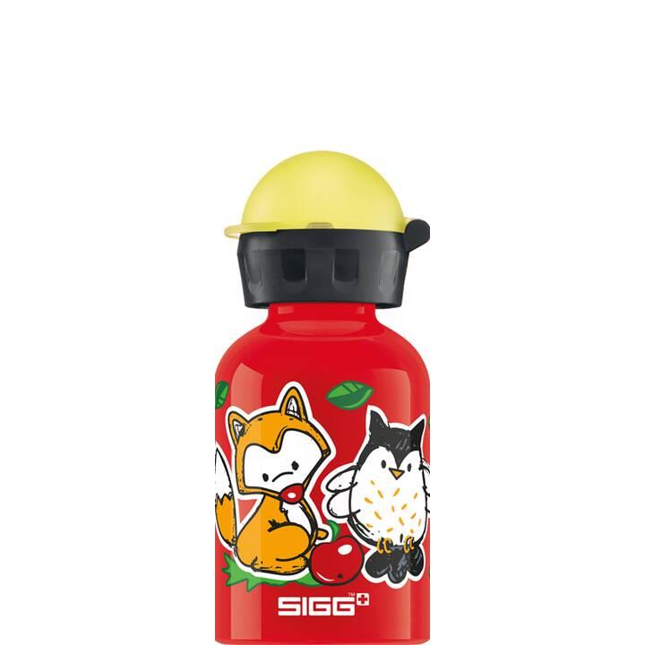 SIGG Kindertrinkflasche Forest Kids (0.3 l, Rot)