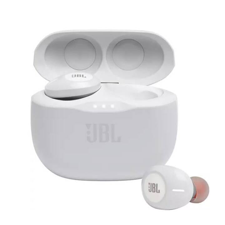 JBL BY HARMAN TUNE 125TWS (In-Ear, Bluetooth 5.0, Bianco)