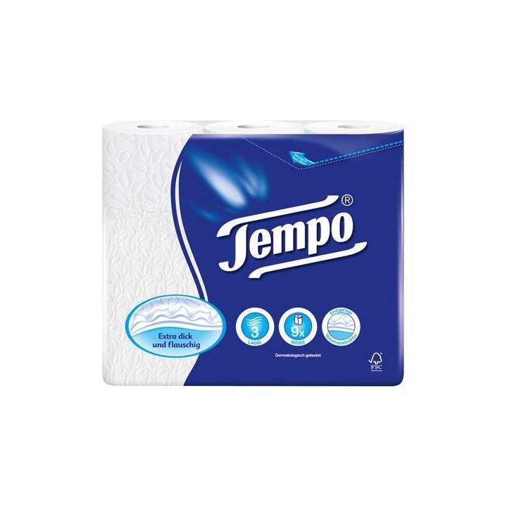 Papier hygiénique TEMPO, 3 plis, blanc