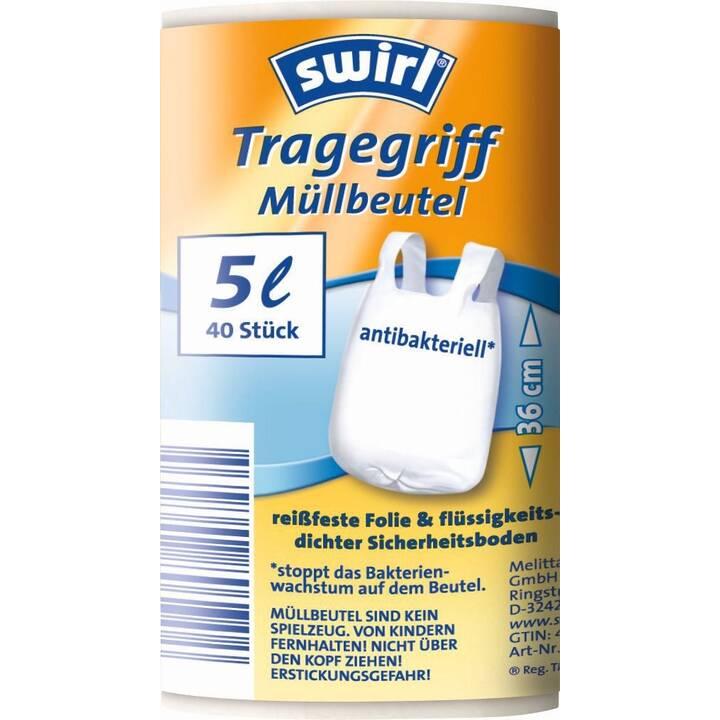 SWIRL Tragegriff Müllsäcke (5 l, 40 Stk)