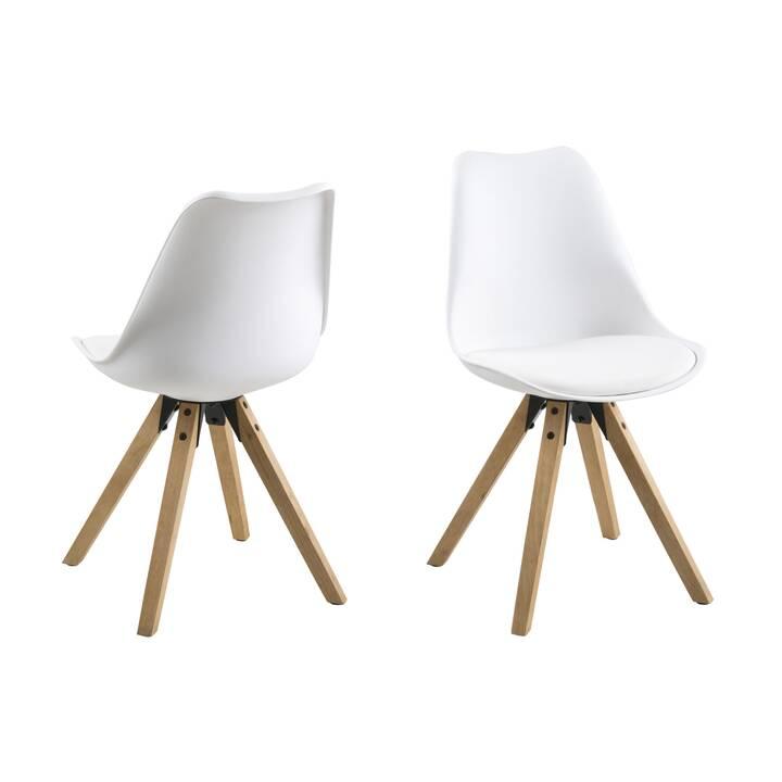 CREATIVE LIVING Sedia in plastica Dima (1 pezzo, Rovere,  legno di gomma, Poliuretano (PU))