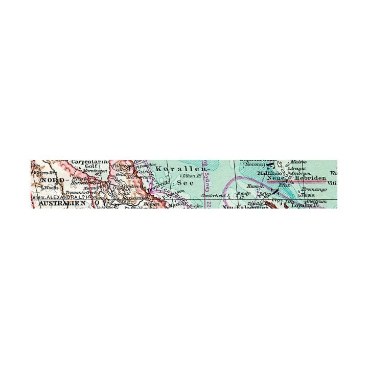 URSUS Deko Klebeband Landkarte (10 m)