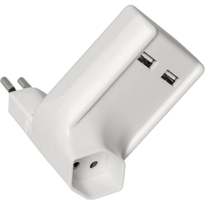 STEFFEN Mehrfachstecker 2x USB