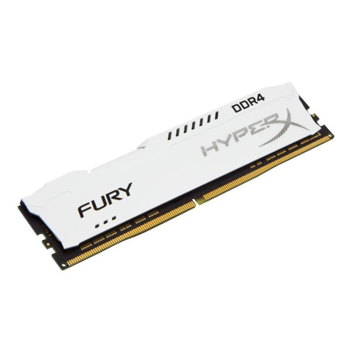 HYPERX Fury White (1 x 8 GB, DDR4-SDRAM, DIMM 288-Pin)