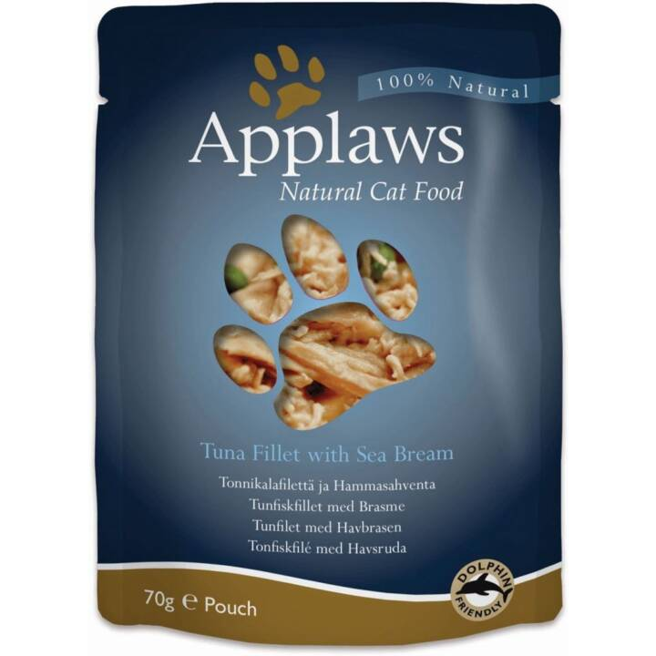 APPLAWS Alimentation humide (Adulte, 70 g, Poisson)
