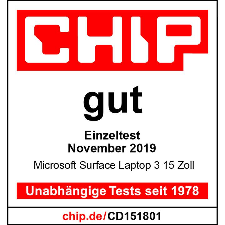 "MICROSOFT Surface Laptop 3 V4G-00007 (15 "", AMD Ryzen, 8 GB RAM, 128 GB SSD)"