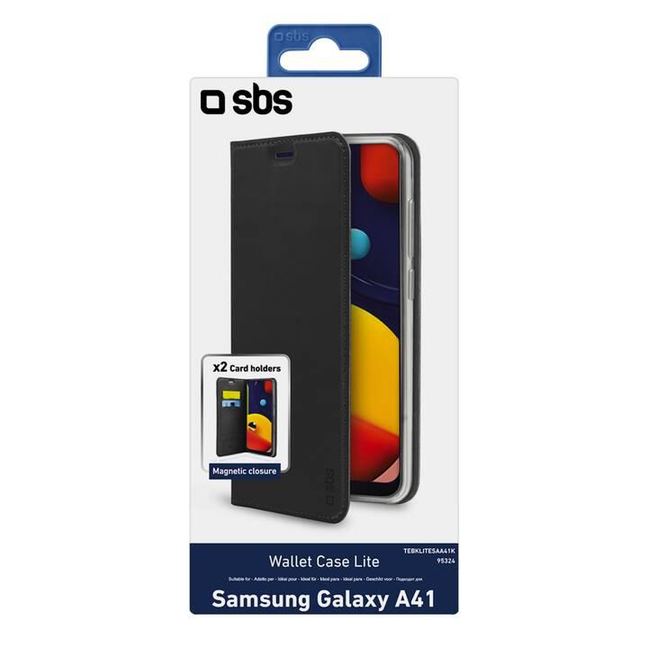SBS Flipcover Wallet Case Lite (Galaxy A41, Nero)