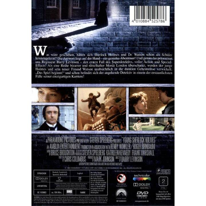 Young Sherlock Holmes - Das Geheimnis des verborgenen Tempels (IT, ES, DE, EN, FR)