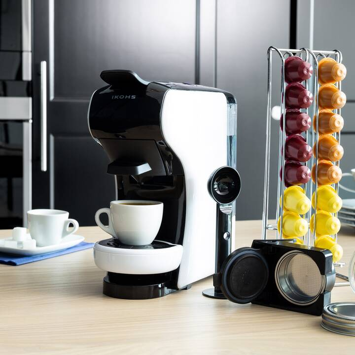 IKOHS Cafetera (Dolce Gusto, Nespresso, Blanc)