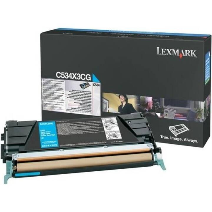 LEXMARK C534X3CG (Einzeltoner, Cyan)