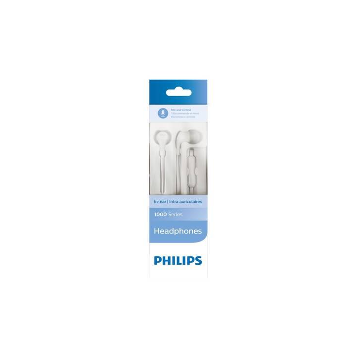 PHILIPS TAE1105WT (In-Ear, Bianco)