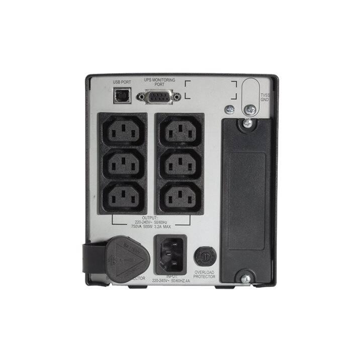 APC Smart Unterbrechungsfreie Stromversorgung USV (750 VA, 500 W, Line-Interactive)