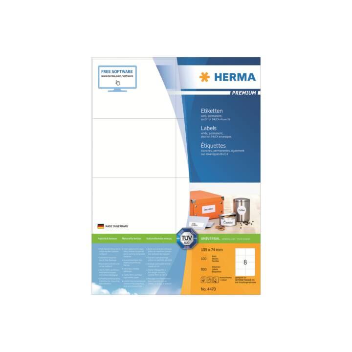 Etiquettes universelles HERMA 105x74mm blanc