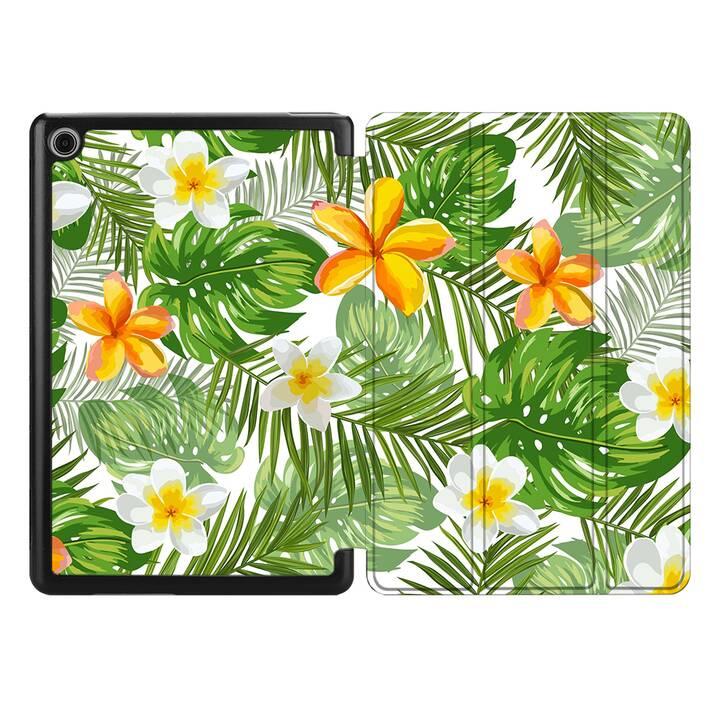 "EG MTT Housse pour HUAWEI MediaPad M5 Lite 10.1"" 2018 - plantes tropicales"