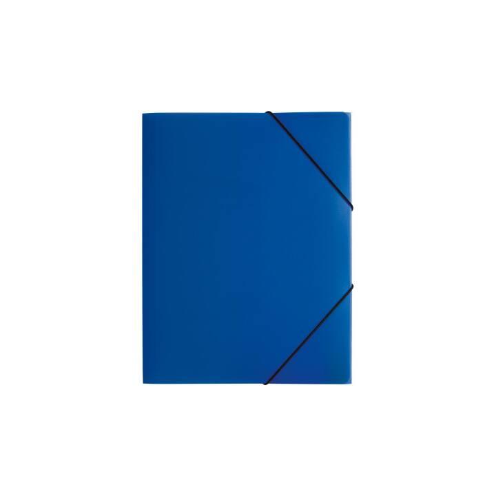 PAGNA chemise à élastique A4 bleu PP 3 rabats pliants