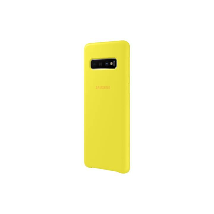 SAMSUNG Backcover Silikon (Galaxy S10, Gelb)