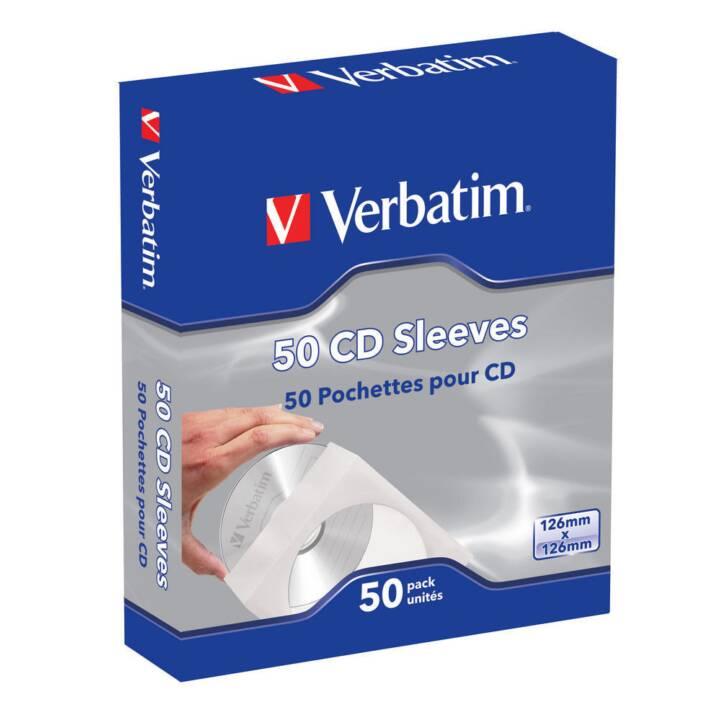 VERBATIM CD/DVD/BD Hüllen, 50 Stück