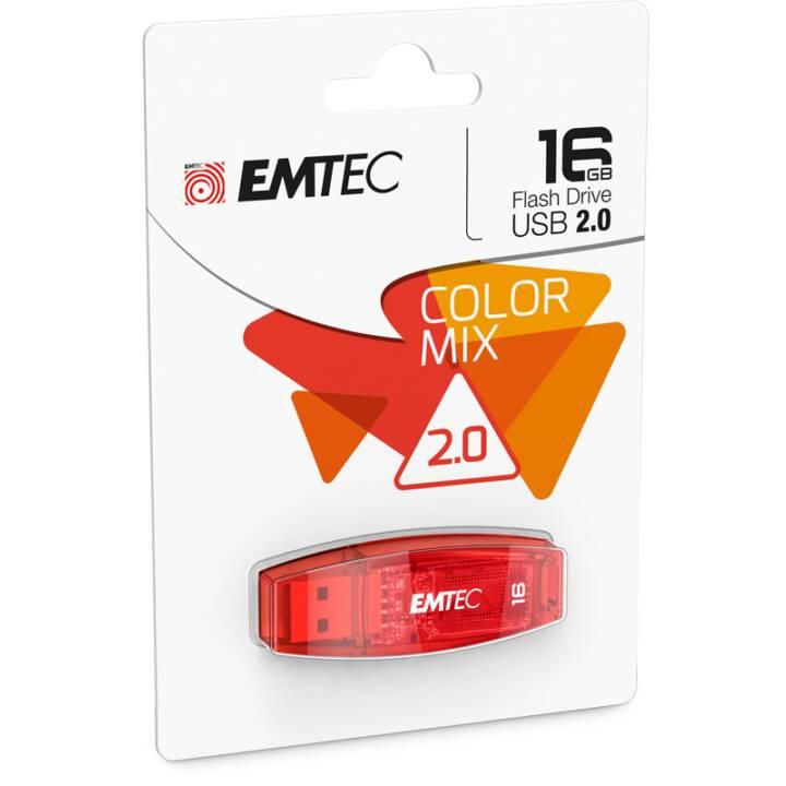EMTEC C410, 16 GB USB 2.0 USB 2.0 rosso