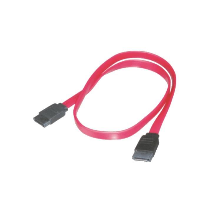 M-Cab SATA III Verlängerungskabel,5 G50 cm, Red