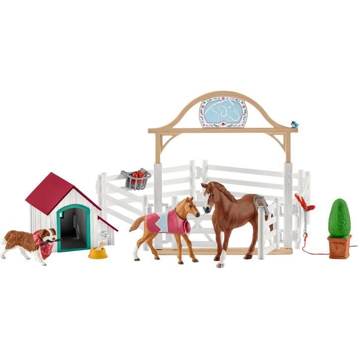 SCHLEICH Cavallo Hannahs Gastpferd & Ruby