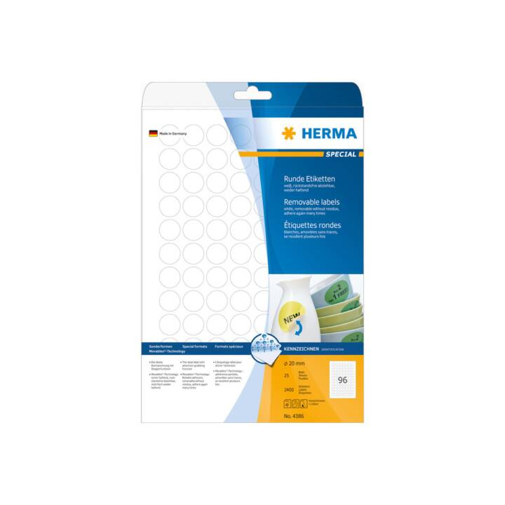 HERMA Mobilier 20mm 2400 pièces