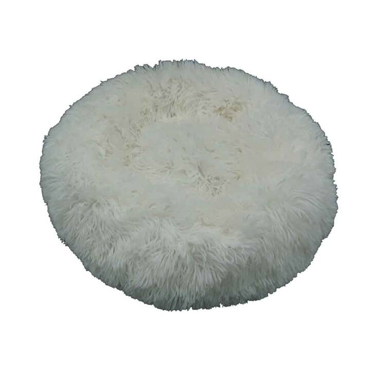 EG rutschfestes rundes Haustierkissen (50 cm) - Haustier weniger als 5 kg - Weiß