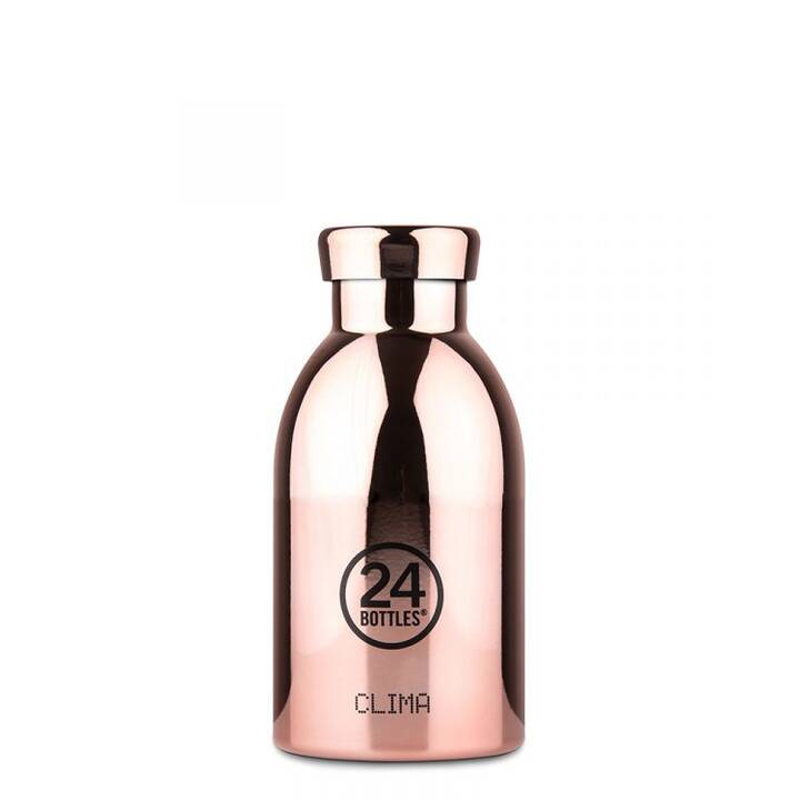 24BOTTLES Thermo Trinkflasche Clima (330 ml, Roségold)