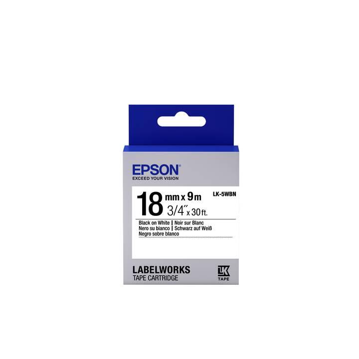EPSON LK-5WBN Etiketten (1,8 cm x 9 m)