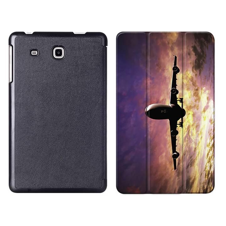 """EG MTT Tablet Tasche mit Smart faltbare Abdeckung für Samsung Galaxy Tab A A6 7 """"- Flugzeug"""
