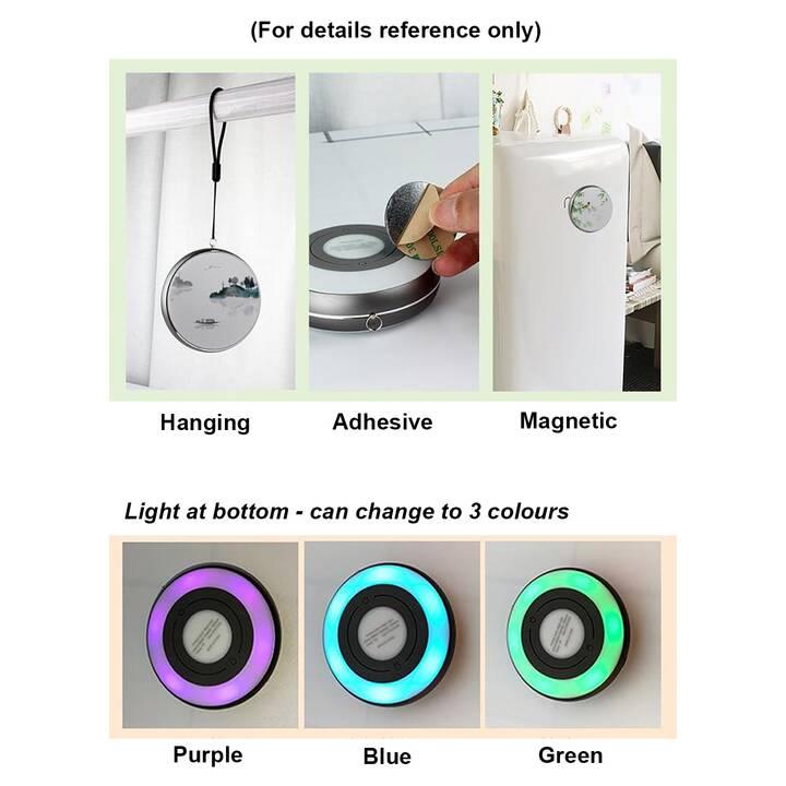 EG MTT Luce notturna LED portatile USB dia.9 x 3.2cm - Viola