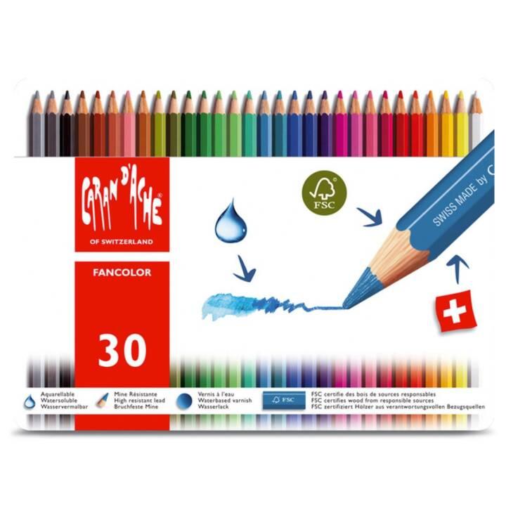 CARAN D'ACHE Farbstifte Fancolor 30 Stück