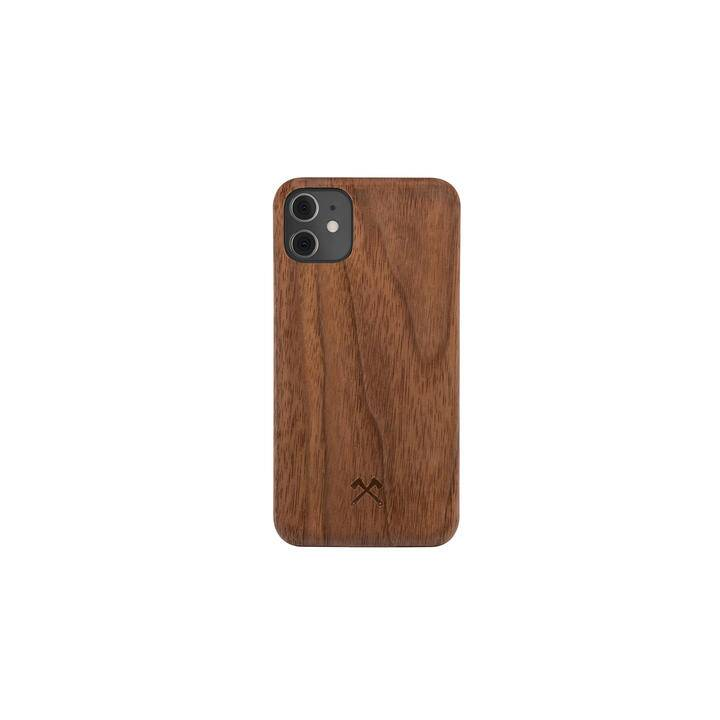 WOODCESSORIES Backcover EcoCase Slim (iPhone 12, iPhone 12 Pro, Marrone noce)