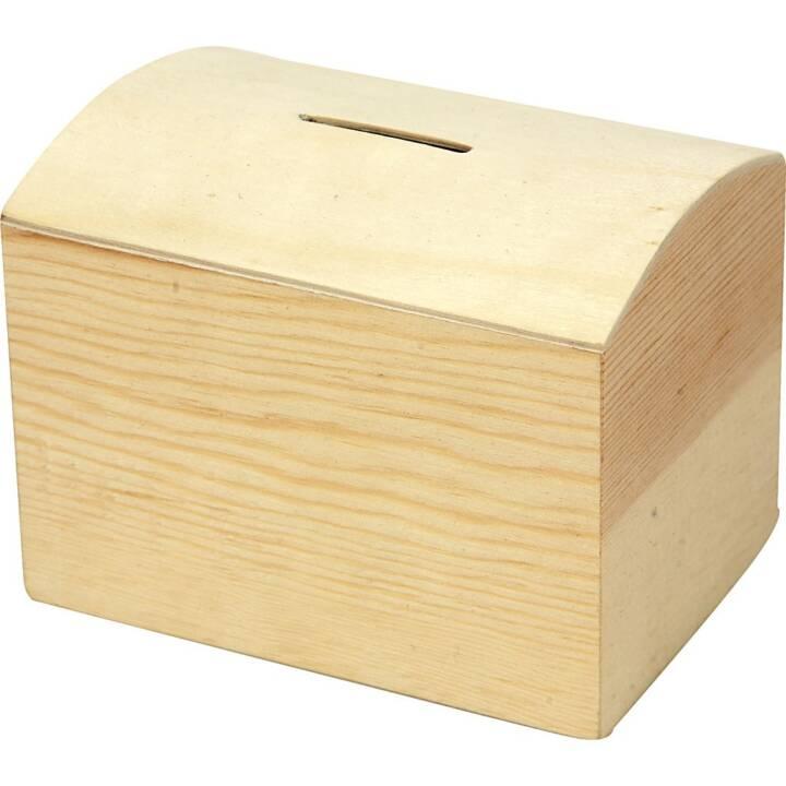 CREATIV Holz Spardose