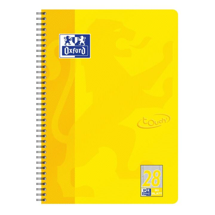 notebook OXFORD Touch Collegeblock, A4, plaid, giallo sole