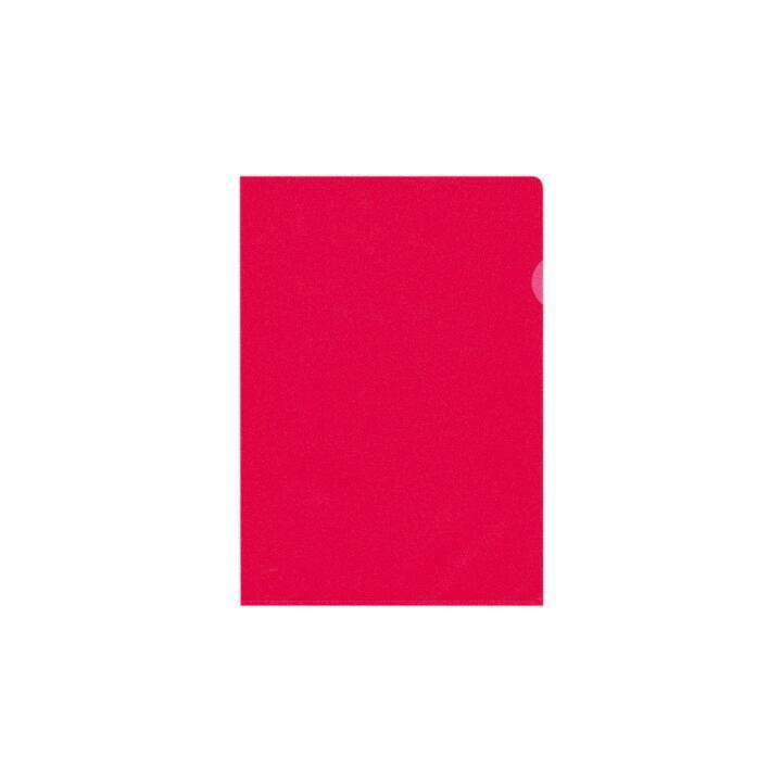 BÜROLINE A4 chemises rouge mat rouge 10 pièces