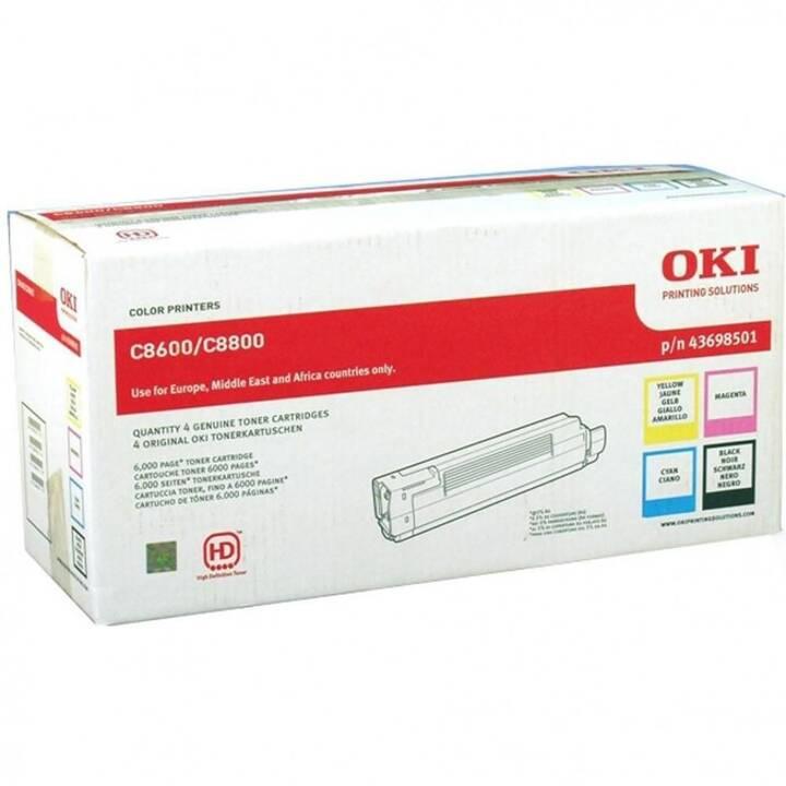 OKI 43698501 (Multipack, Nero, Giallo, Ciano, Magenta)