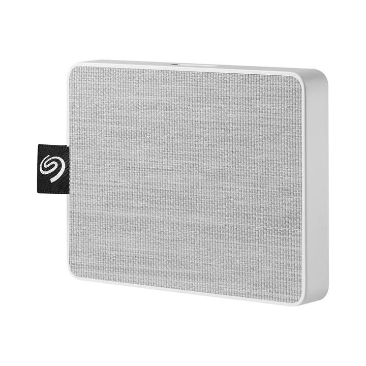 SEAGATE One Touch (USB 3.0, 500 GB, Weiss)