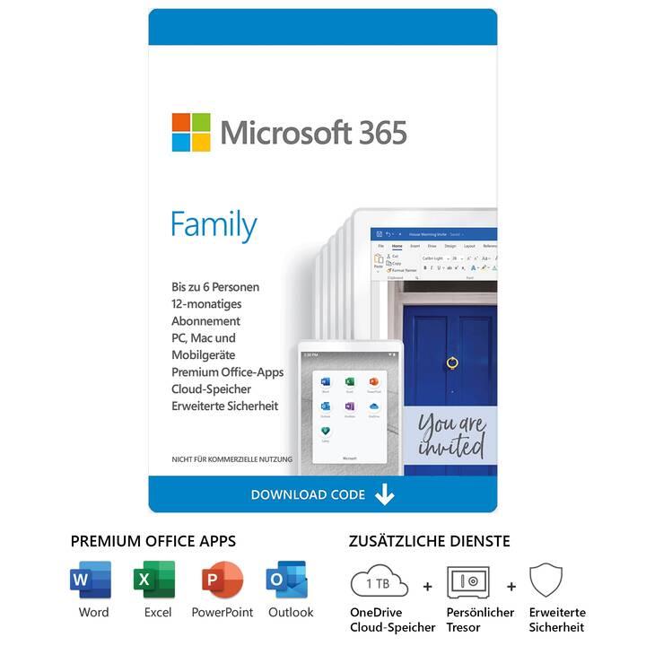 MICROSOFT 365 Family (Abbonamento, 6x, 1 anno, Tedesco)