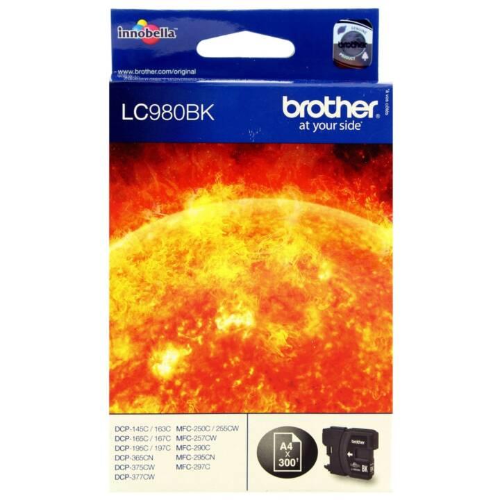 BROTHER LC980BK  (Schwarz, 1 Stück)