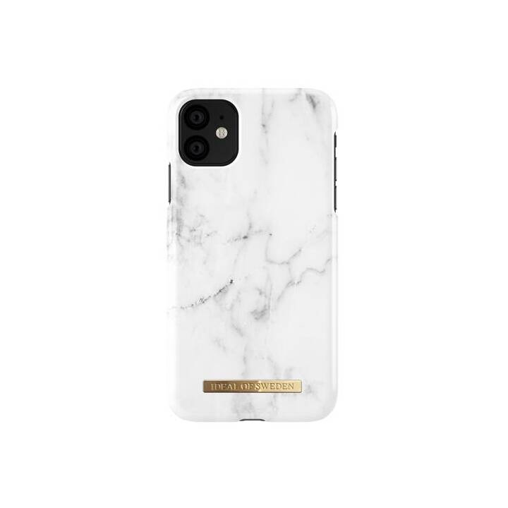 IDEAL OF SWEDEN Backcover White Marble (iPhone 11, Bianco)