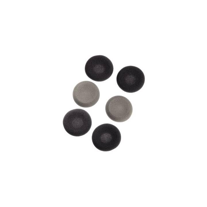 THOMSON HED15N Schaumstoff-Ohrpolster, Schwarz, Grau, 6 Stk.