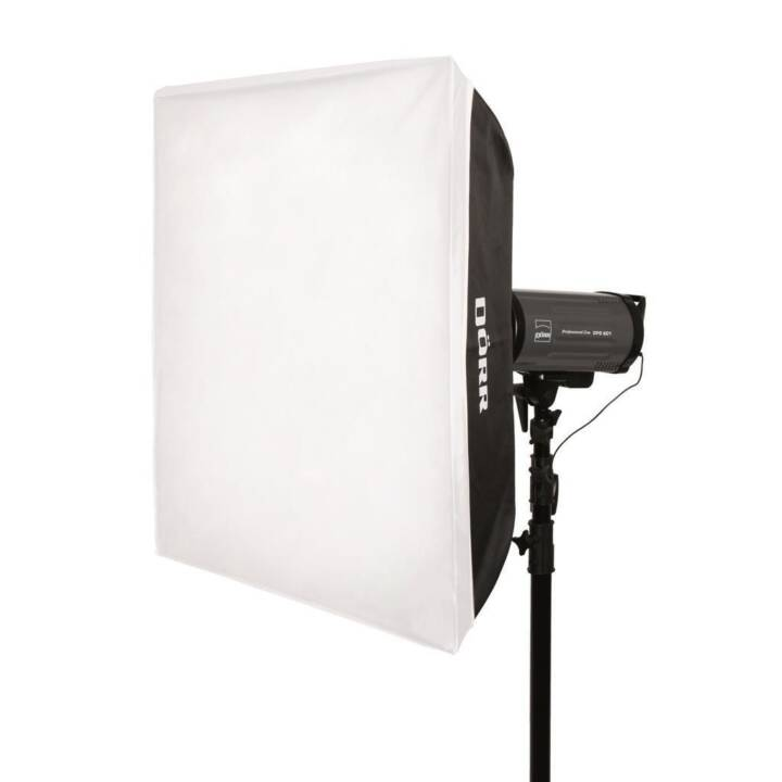 DÖRR QFSB-7575 Softbox (Nero, Bianco, 750 x 750 mm)
